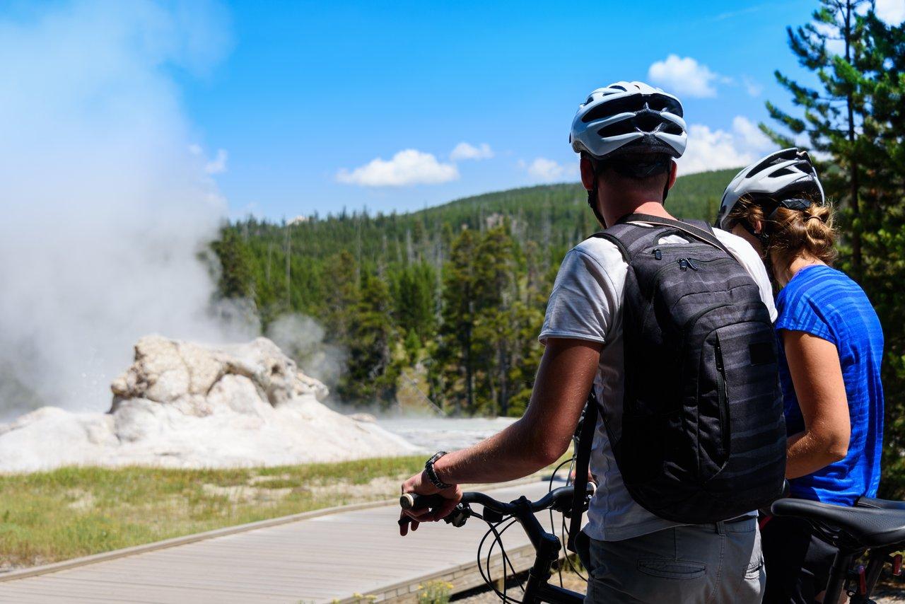spring biking at yellowstone