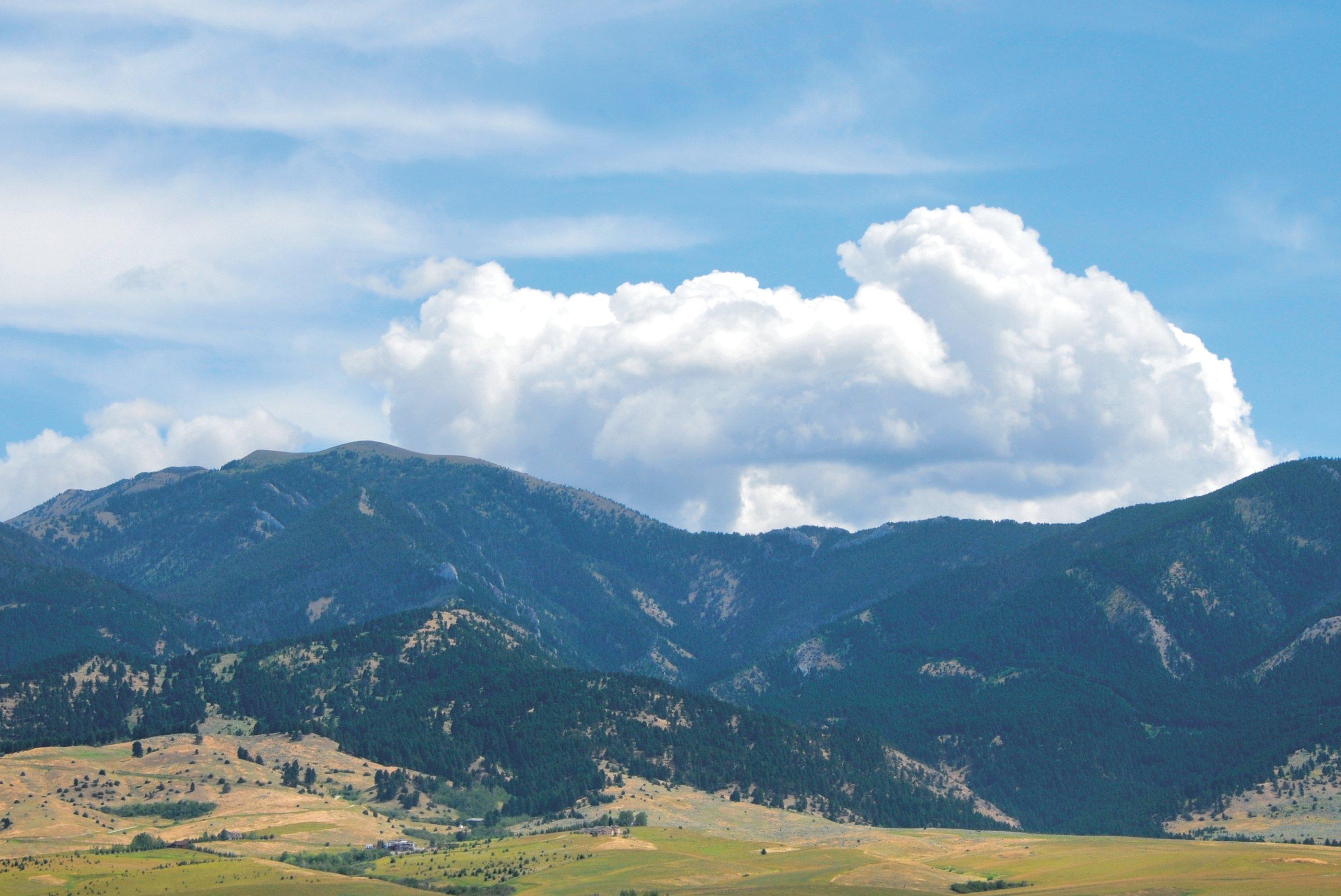 bridger range in bozeman, montana