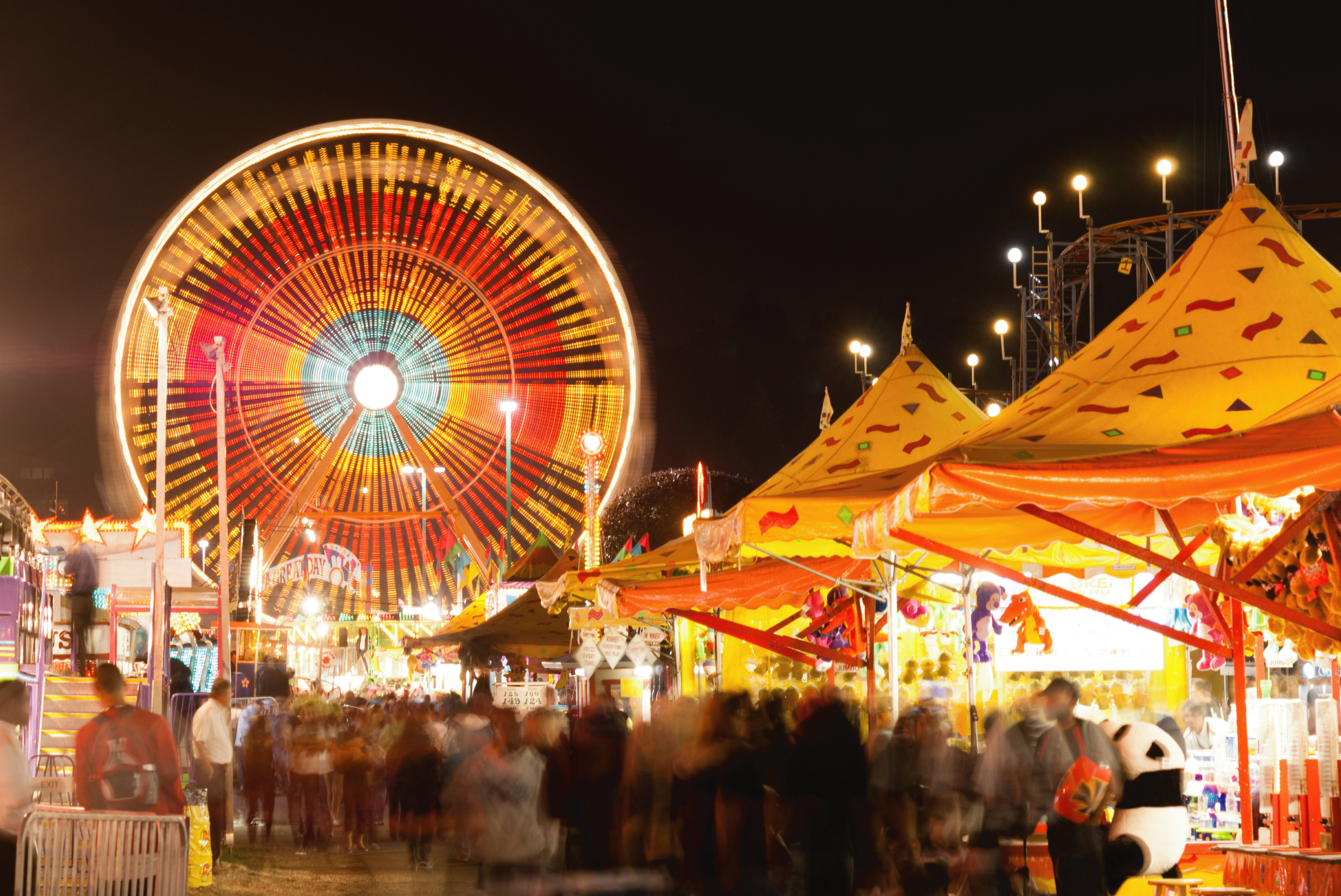 ferris wheel and tents and the big sky country fair