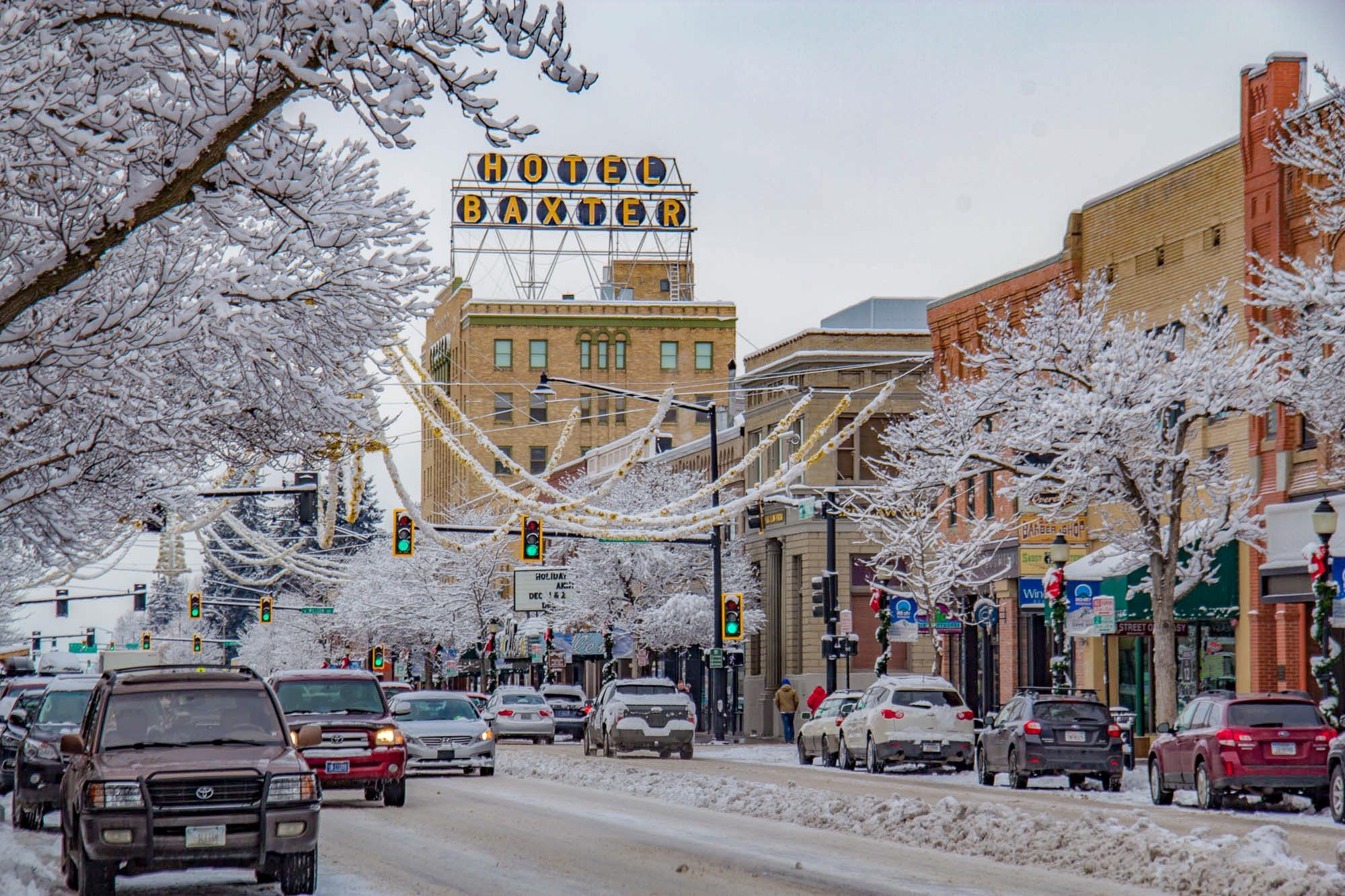 Winter in Downtown Bozeman