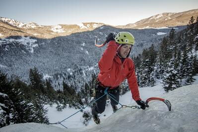 Ice Climbing in Bozeman