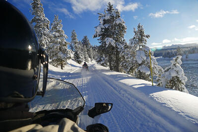 Snowmobiling in Bozeman