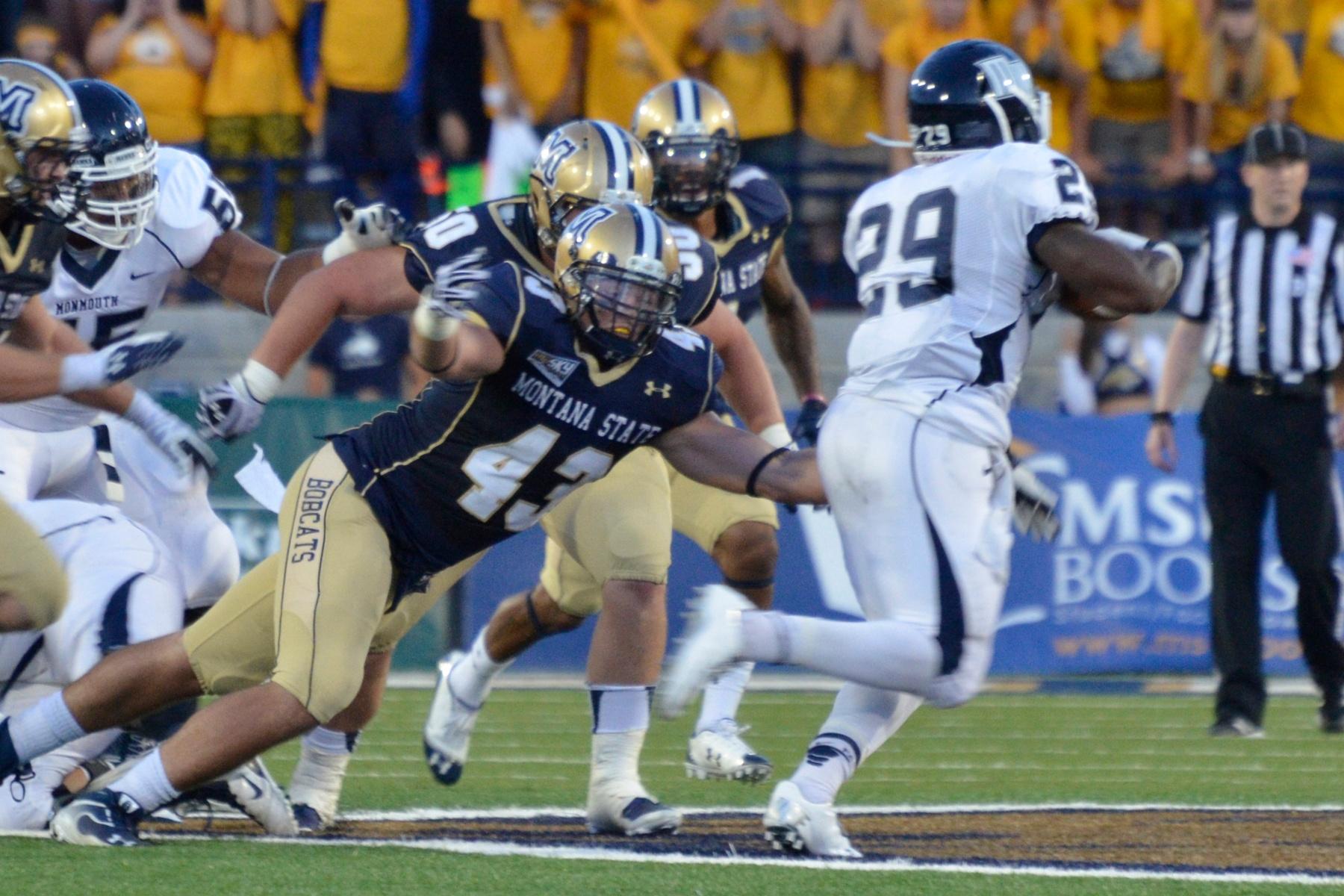 MSU Bobcats on the tackle