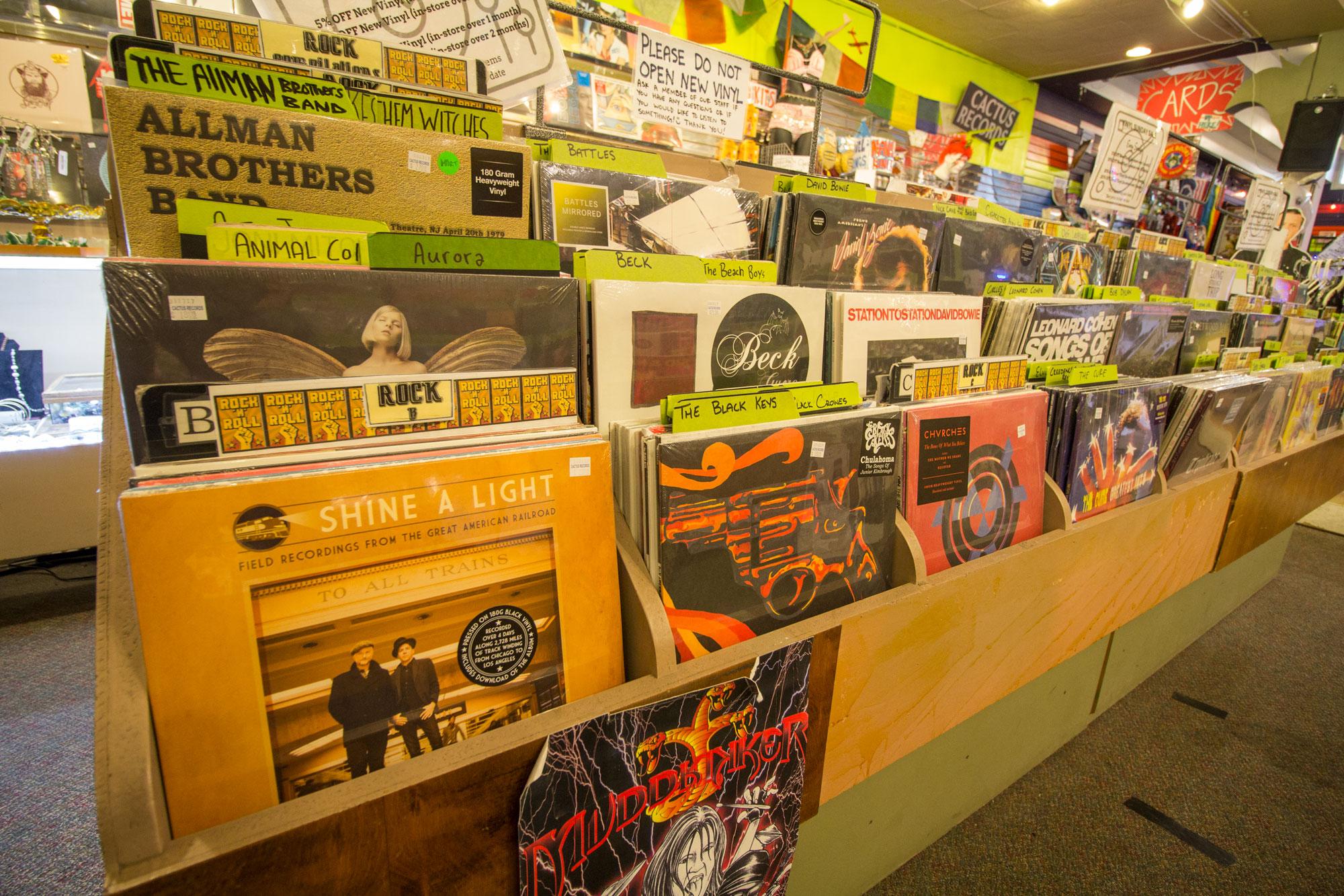 Vinyl at Cactus Records in Bozeman, MT