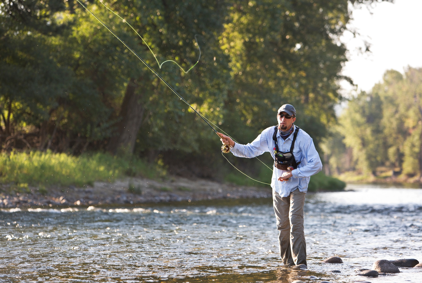 Fly fishing in Bozeman