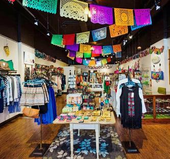 Inside Cósmica World Boutique in Downtown Bozeman