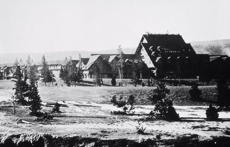 Yellowstone Park Hotel Company - Old Faithful Inn; Haynes; Around 1917