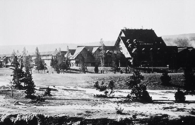 Yellowstone Park Hotel Company - Old Faithful Inn; Haynes; Around 1917