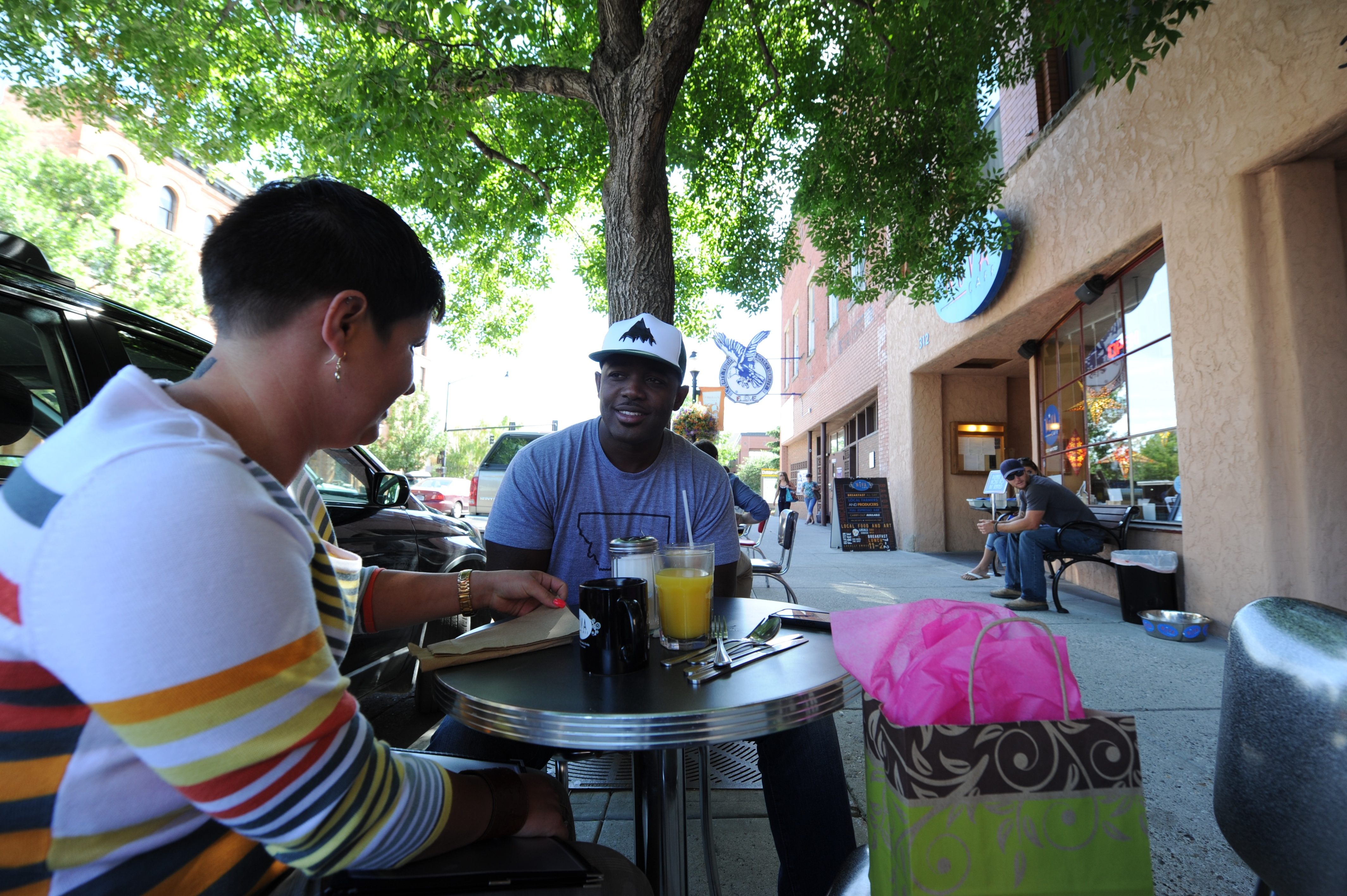 Dining in downtown Bozeman