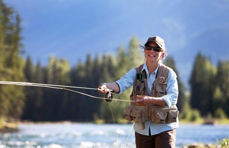 Women fly fishing in Bozeman Montana