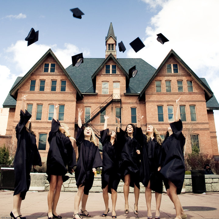 Happy Montana State University Graduates by Erin Phillips