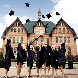 Happy Montana State University Graduates by Erin Phillips