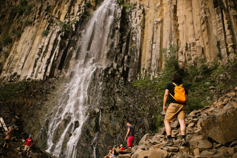 Palisade Falls in Bozeman, Montana