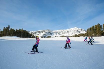 Kids skiing at Bridger Bowl in Bozeman MT