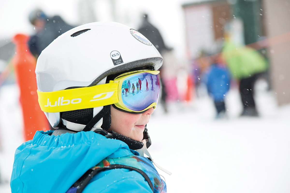 Getting Ready for a Ski Day at Bridger Bowl in Bozeman, Montana
