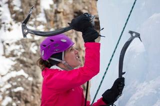 Ice climbing in Bozeman