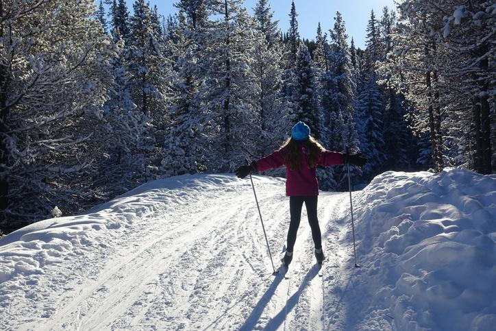 Kids nordic skiing in Bozeman Montana
