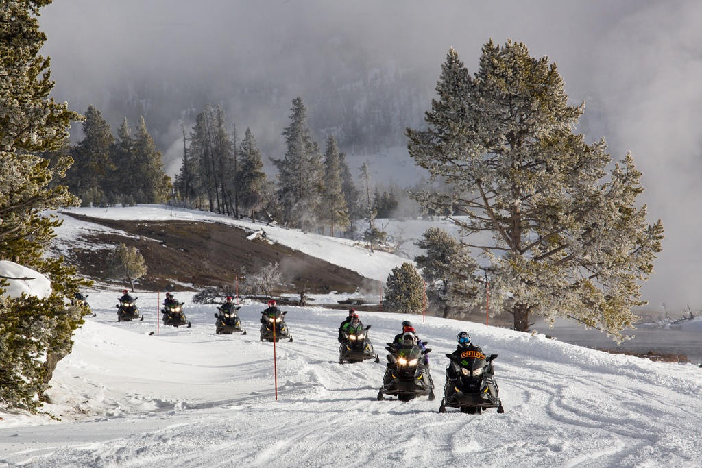Snowmobiling in Yellowstone