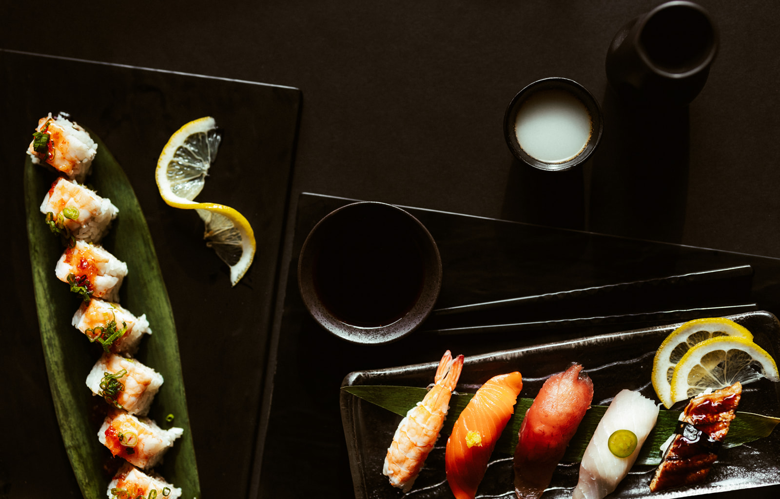 plates of sushi from Hooked in Bozeman