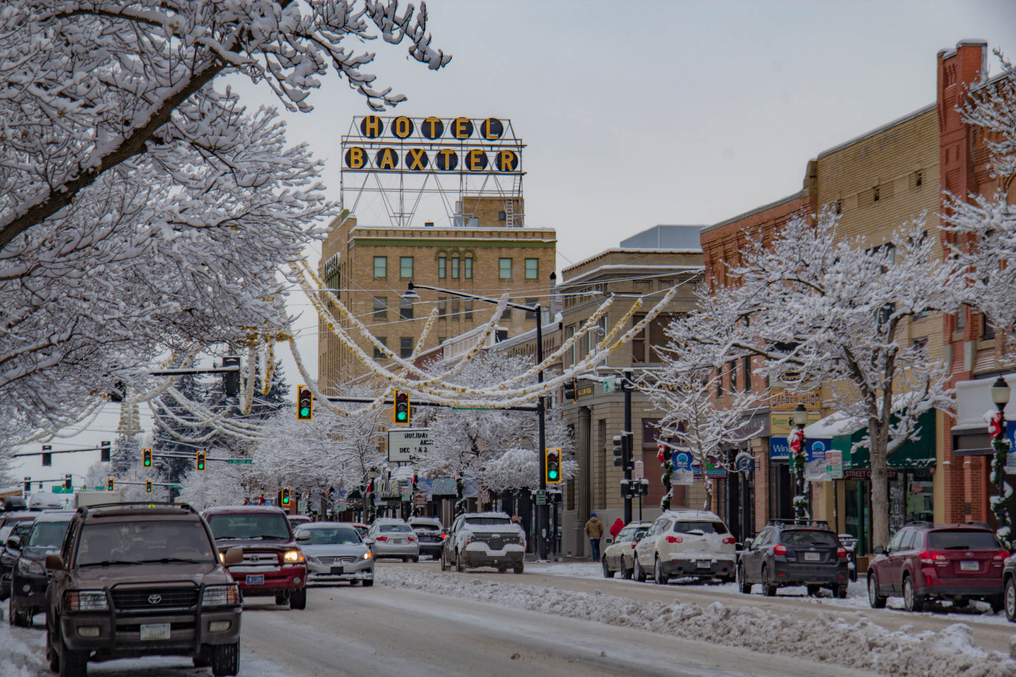 downtown Bozeman in the winter
