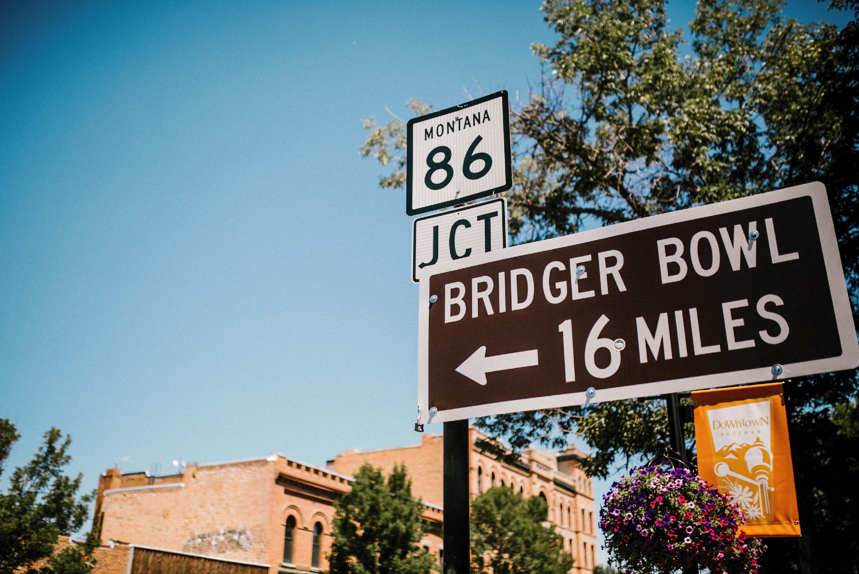 bridger bowl sign in downtown bozeman