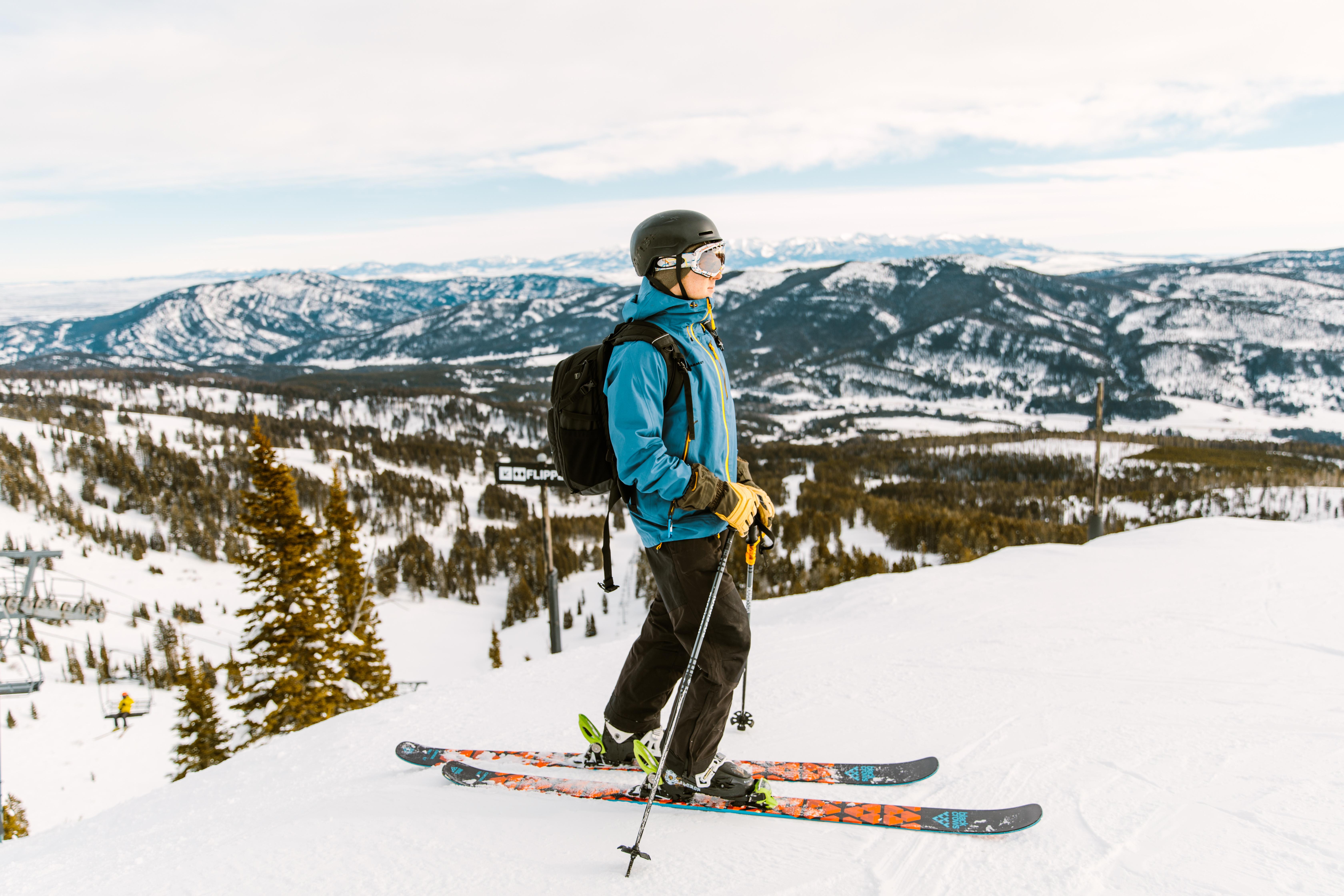 Skiing at Bridger Bowl