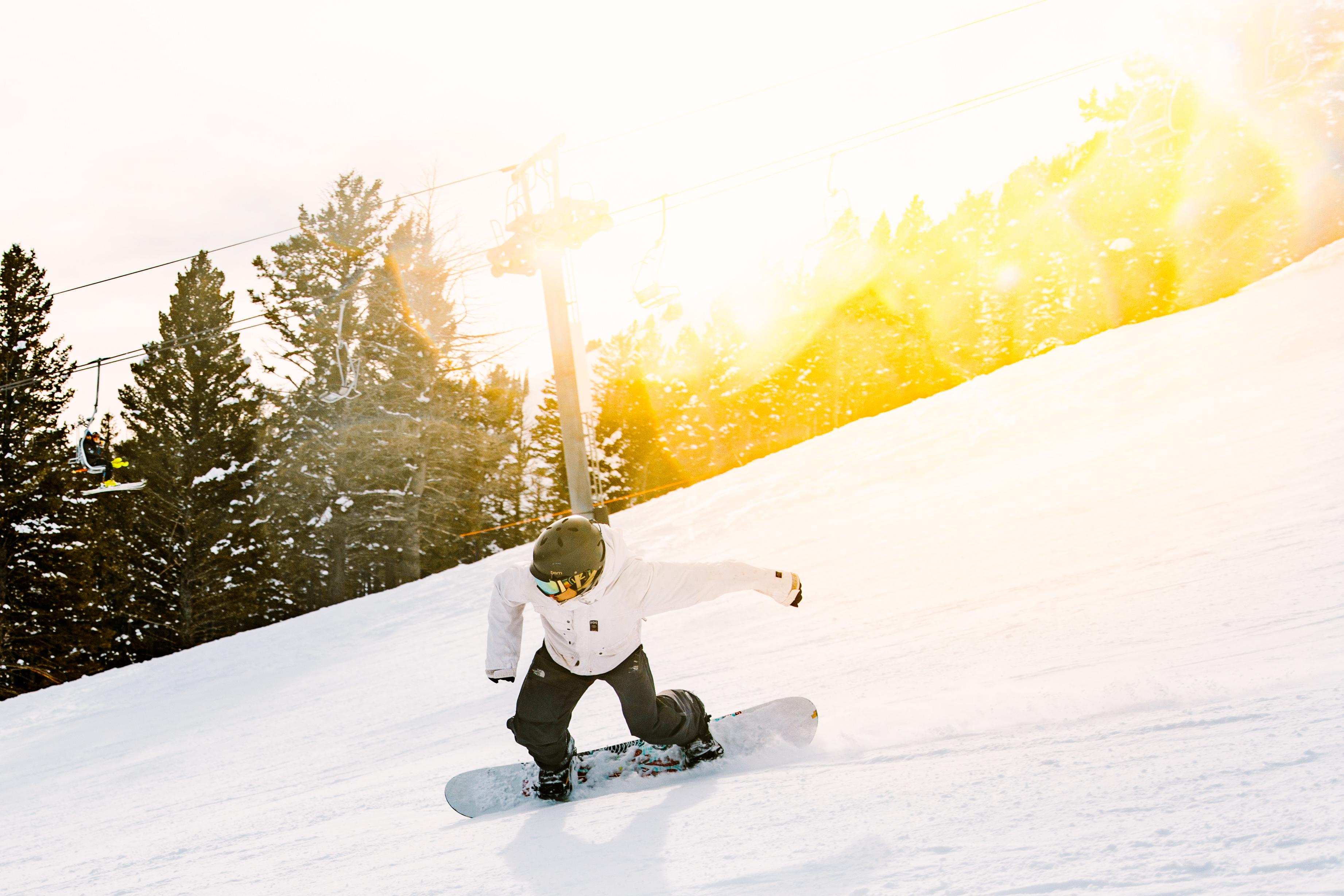 Snowboarding Around Bozeman