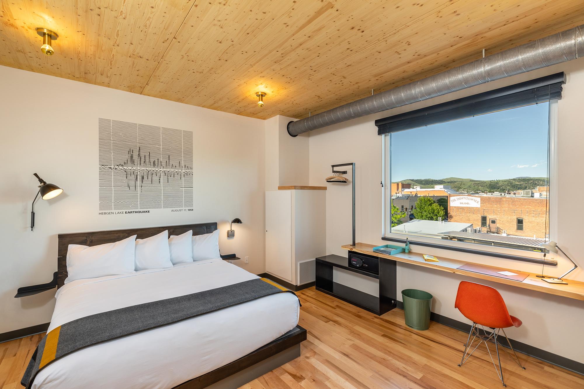 a room inside the lark hotel in bozeman montana